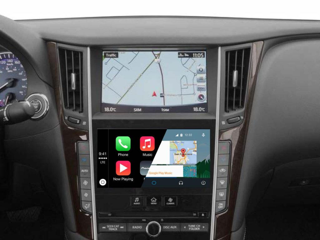 infiniti qx50 oem integrated apple carplay  u0026 android auto system