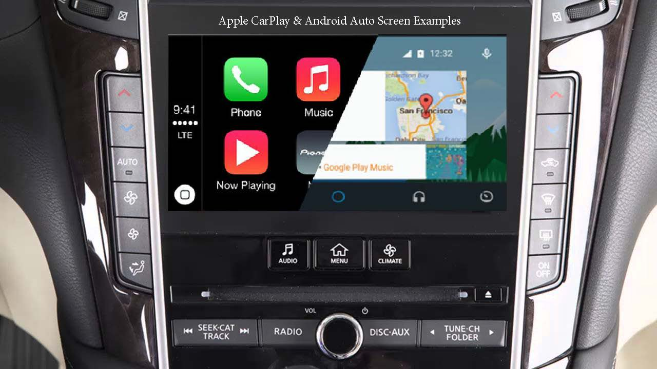 INFINITI Q50 OEM Integrated Apple CarPlay & Android Auto System